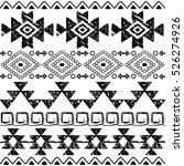seamless navajo hand drawn... | Shutterstock .eps vector #526274926