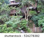 mae kampong village  famous... | Shutterstock . vector #526278382