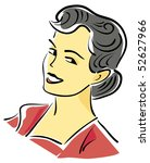 retro woman | Shutterstock .eps vector #52627966