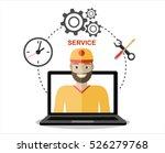 business customer care service... | Shutterstock .eps vector #526279768