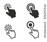 touch vector icons set.... | Shutterstock .eps vector #526291516