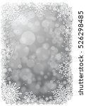 silver christmas background... | Shutterstock .eps vector #526298485
