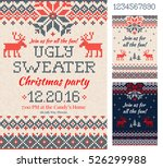 merry christmas party... | Shutterstock .eps vector #526299988