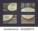 business card or visiting card... | Shutterstock .eps vector #526300072