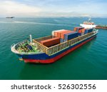container container ship in... | Shutterstock . vector #526302556