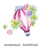 Watercolor Bright Card With Ho...