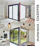 renovation on a modern luxury... | Shutterstock . vector #526305958