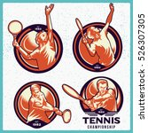 Vector Set Of Tennis Labels....