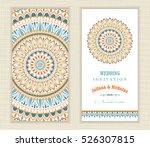 set of vintage wedding... | Shutterstock .eps vector #526307815