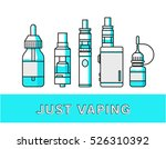 vaping attributes and devices... | Shutterstock .eps vector #526310392