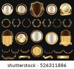 vector medieval golden shields... | Shutterstock .eps vector #526311886