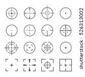 crosshairs icon vector set...