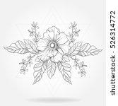 freehand boho tattoo. blackwork ... | Shutterstock .eps vector #526314772