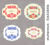 collection of vintage labels... | Shutterstock .eps vector #526318306