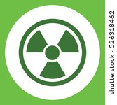 radiation radioactive sign... | Shutterstock .eps vector #526318462