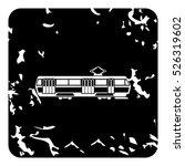 grunge illustration of tram... | Shutterstock .eps vector #526319602
