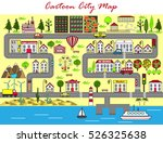 background of a lively city... | Shutterstock .eps vector #526325638