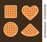 belgium waffles icon set on... | Shutterstock .eps vector #526326568