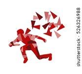 man throwing flying disc vector ... | Shutterstock .eps vector #526326988