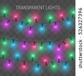 christmas lights. glowing...   Shutterstock .eps vector #526327396