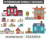 9 premium family houses. vector | Shutterstock .eps vector #52632814