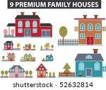 9 premium family houses. vector