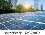 solar panels in modern city | Shutterstock . vector #526330885