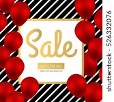 sale design. red luxury... | Shutterstock .eps vector #526332076