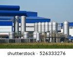 big plant for processing scrap...   Shutterstock . vector #526333276