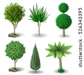 set of ornamental plants and... | Shutterstock .eps vector #526343395