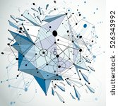 3d modernized bauhaus style... | Shutterstock .eps vector #526343992