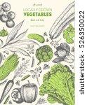 vegetables top view frame.... | Shutterstock .eps vector #526350022