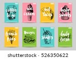 vector hand drawn fast food... | Shutterstock .eps vector #526350622