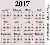 great new wall calendar 2017.... | Shutterstock .eps vector #526357432