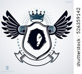vector emblem  vintage heraldic ... | Shutterstock .eps vector #526359142