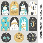 set of merry christmas and new... | Shutterstock .eps vector #526359706