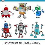 cartoon illustration of robot... | Shutterstock .eps vector #526362592