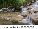 beautiful waterfall in the... | Shutterstock . vector #526363852