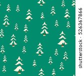 seamless christmas pattern with ... | Shutterstock .eps vector #526367866