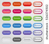 set of colored web buttons.... | Shutterstock .eps vector #526374502