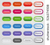 set of colored web buttons.... | Shutterstock .eps vector #526374508