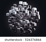 abstract 3d rendering of... | Shutterstock . vector #526376866