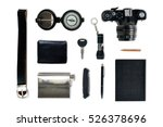 man things flat lay isolated on ... | Shutterstock . vector #526378696