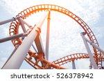 roller coaster track blue sky... | Shutterstock . vector #526378942