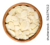 sliced blanched almonds in... | Shutterstock . vector #526379212