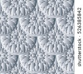 floral white seamless pattern.... | Shutterstock .eps vector #526385842