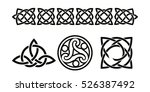 set of celtic national ornament.... | Shutterstock .eps vector #526387492