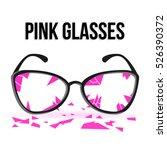 broken glasses. ruined into... | Shutterstock .eps vector #526390372