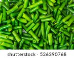 Green Beans On White Background....