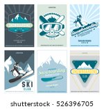 ski and snowboard  posters set. ... | Shutterstock .eps vector #526396705